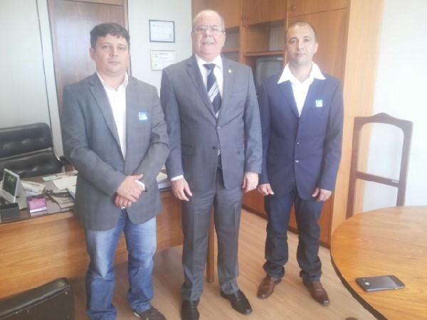 Ver. Jarlis Adelino, Dep. Hildo Rocha e Brito Presidente - STIMA
